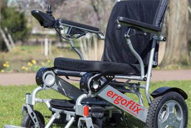 Elektrischer Rollstuhl faltbar mit Hilfsmittelnummer